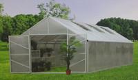 EGR70408 4x8m Aluminum Metal Type frame and electrostatic powder coating Frame Hobby/Garden Greenhouse