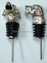 silver metal 3D aminal head pourer
