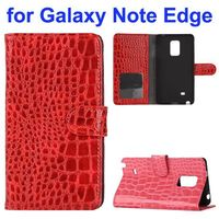 Crocodile Texture Flip Stand PU Wallet Leather Case for Samsung Galaxy Note Edge N9150