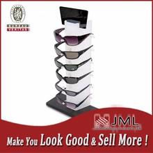 holds 6 glasses , custom desktop eyeglass display stand for retailing shop