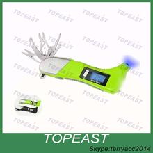 car emergency tool seat belt cutter,safety hammer,LCD backlight,LED flashlight digital tire pressure gauge
