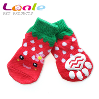 Cute fruit design pet dog socks in pet products for wholesale