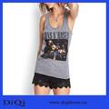 Bulk Wholesale Clothing nueva moda de lujo mujeres blusa Guns and Roses tema palabra chaleco tops mujeres ropa algodón