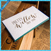 Thick cotton paper colored edge calling cards/ letterpress business cards printing