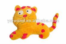 Plush angry cat cushion