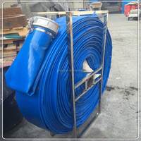 blue flexible PVC lay flat pipe/hose (manufacturer)