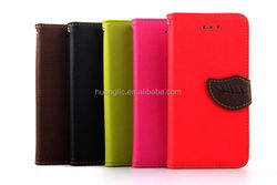 Wholesale Book style stand leather cover cases for iphone 6 best price
