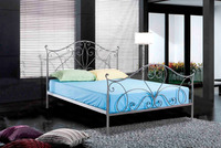 2015 latest design cool grey iron double bed