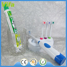 2015 kid waterproof battery powered electrical toothbrush with holder and replace head