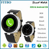 Leather + SOS/G-sensor + SIM TF watch phone with skype for HTC One