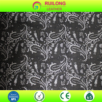 Chinese printed leather fabric for ipad case