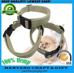 100% Hemp Eco Friendly Dog Collar