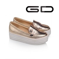 Gold beautiful design elegant classy sexy dress shoes for women
