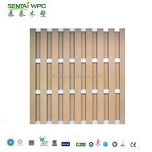 anti-abrasion Mildew proof removable plastic wood composite fence