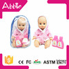 11 inch Plastic Children Toys in Nightclothes Wholesale Lively Baby Doll