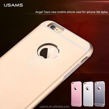 Latest dimond design mobile accessories USAMS Angel Tears Aluminium phone case for iphone 6