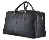7156LA Genuine Leather Large Capacity Luggage For Men JMD Viatage Leather Travel Bags