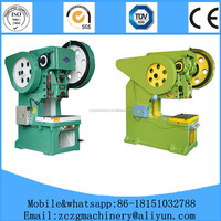 Plate stainless steel hole puncher ,mechanical electric hole power press with 3 years warranty