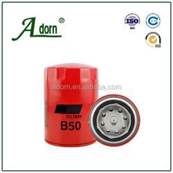 Thread 5/8-18 Efficiency B50 Truck /auto engine custom oil filter for baldwin, filter for oil