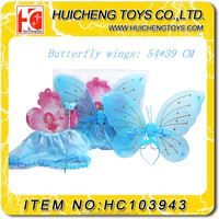 Funny kids make-up party butterfly wings costume wholesale party supplies in China