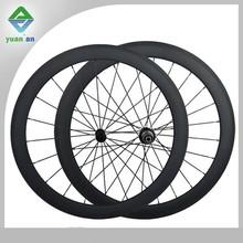china 3k 12k or ud weaving matte or glossy road bike wheelset carbon fiber 700c carbon wheelset