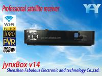 fta satellite receiver full hd media player with usb wifi antenna jb200 qpsk hd module tuner turbo 8psk channels jynxbox v14