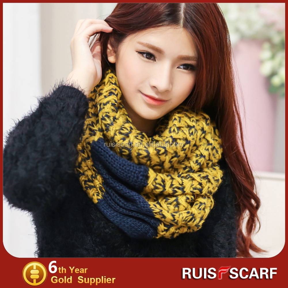 Knitting Pattern Cotton Scarf : Wholesale loop scarf knitting pattern cotton winter loops scarf in stock - Al...