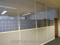 Superior quality office partition glass wall office cubicles