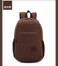 Men's Business Leisure Vintage Fashion Travel Canvas Backpack
