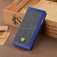 Leather Flip Smartphone Case Leather Phone Case,For Samsung S6 Wallet Case ,For Samsung s6 Salmartphone Wallet Case