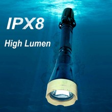 (120293) Hot selling super bright ABS battery operated handheld diving high power waterproof led light underwater torch