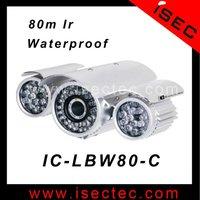 80m Long IR range IP66 Waterproof Bullet Cctv Security Light Sony 800tvl ccd Camera with high definition