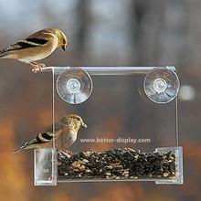 clear acrylic window bird feeder (BTR-S4022)