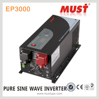 MUST brand LCD pure sine wave charger inverter 1kw to 6kw with CE SONCAP ISO9001 IEC quality
