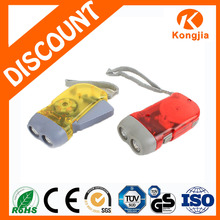 Small Led Lights Powerful Hand Crank Rechargeable LED Flashlight Hand Crank Generator