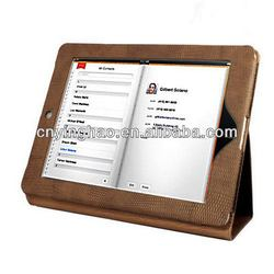 New style cheapest leather sleeve for iPad 3