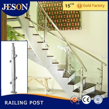 stainless steel handrail post and fittings for stairs