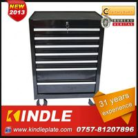 Kindle 31 years experience roller Customized make up tool box with drawers