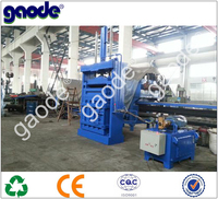 Manual Control Vertical Hydraulic Used Plastic Baling Machine