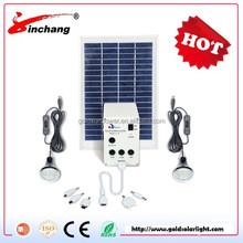 5W USB Solar Panel DIY Lighting Kit, Solar Home System Kit, Portable USB Solar Charger with LED Light Bulb Flashlight