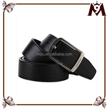 2015 Classic Men Belt Waistband Pin With buckle men black genuine leather belt