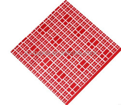 Red Line effect paper napkins design dot for picnic party