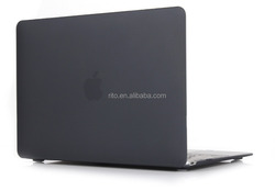 """Hard Shell Protective Case for Macbook New Macbook 12"""" inch Retina [2015 Release], Smooth Matte Finish (Black)"""
