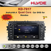 high quality factory price touch screen 2 din quad core android4.4 syetem 1024*600 car DVD GPS navigation for mondeo