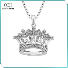 925 sterling silver pendant crown
