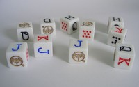 made in China manufacturing durable plastic small dice