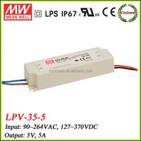 Meanwell 30w led light driver 5v 6a LPV-35-5