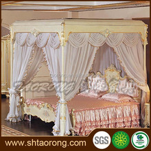 Antique French Four Poster Bed With stainless steel legs