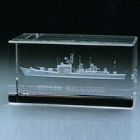 3d Laser Engrave Crystal Ship Model as Souvenir or gifts