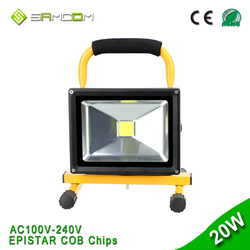 Battery Powered Power Line Cordless Rechargeable LED Floodlight